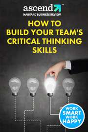 How to Build Your Team's Critical Thinking Skills