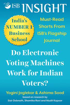 Do Electronic Voting Machines Work for Indian Voters?